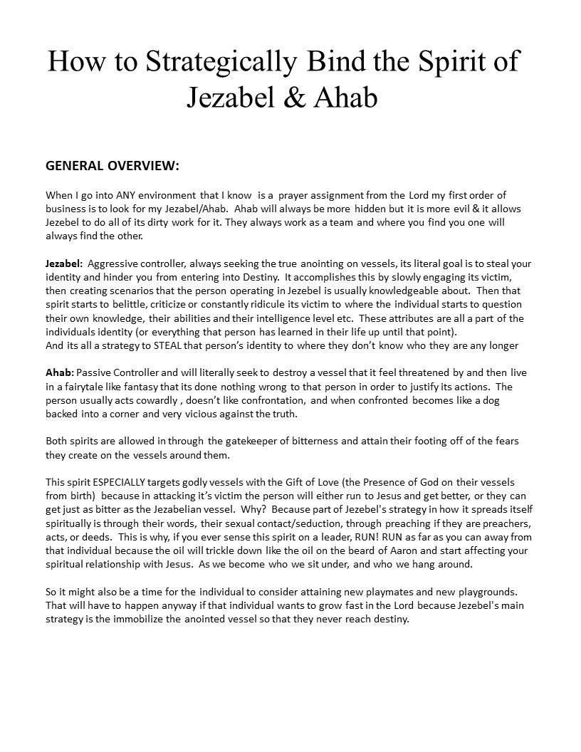Jezabel Page 1 Overview